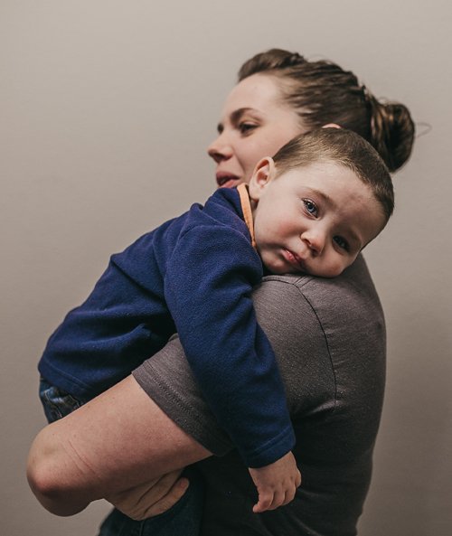 child and mother